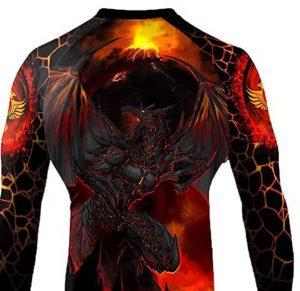Raven Fight wear – lava Dragon rash Guard