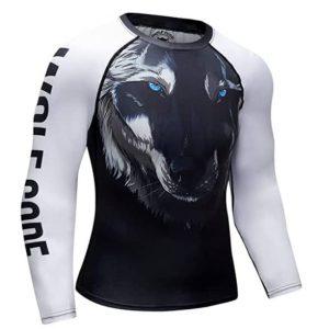 Wolf code fight wear women Rashguard for BJJ